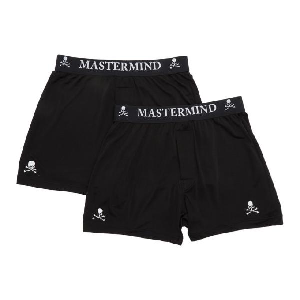 a43115a8cd31 Mastermind Japan Mastermind World Two-Pack Black Silk Boxer Briefs ...