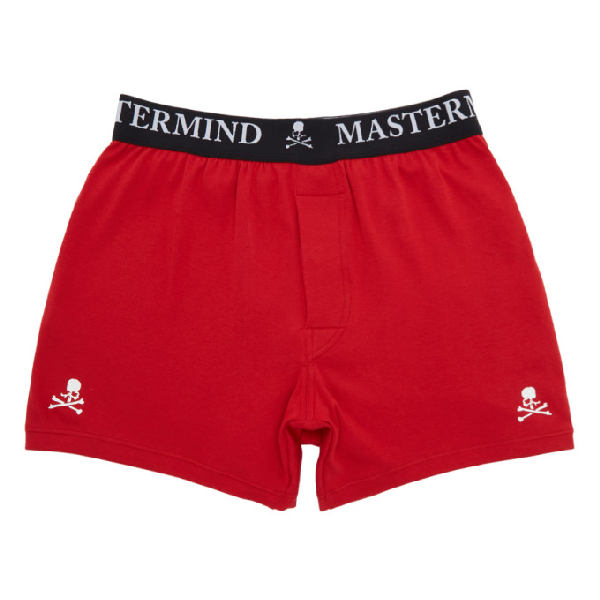 2a635b3a78f4 Mastermind Japan Mastermind World Three-Pack Multicolor Logo Boxer Briefs  In Red/Gry/