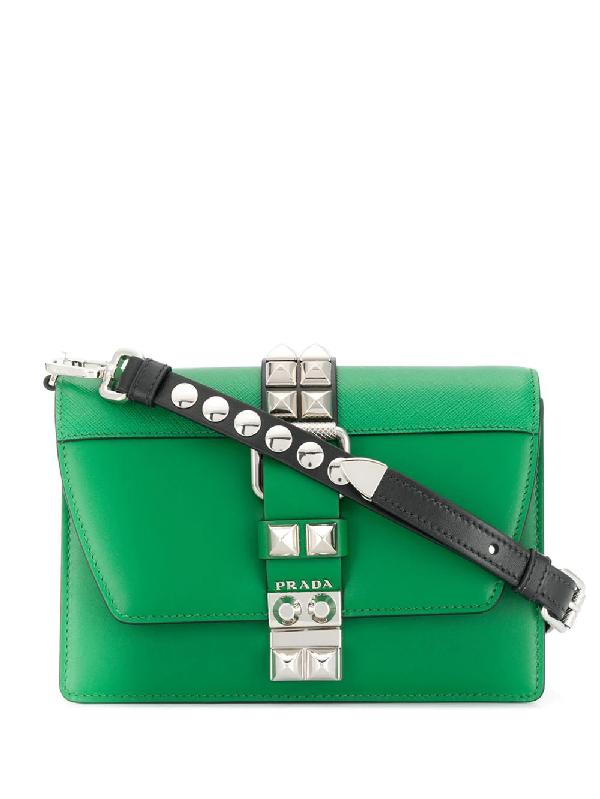 aee3e3ef8384 Prada Elektra Leather Shoulder Bag In Green | ModeSens