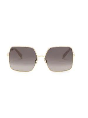 da236c102ae7 Celine 60Mm Goldtone Logo Square Sunglasses   ModeSens