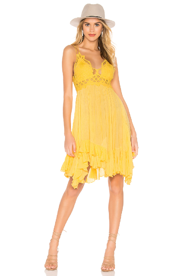38e3cee56b8f2 Free People Intimately Fp Adella Frilled Chemise In Yellow | ModeSens