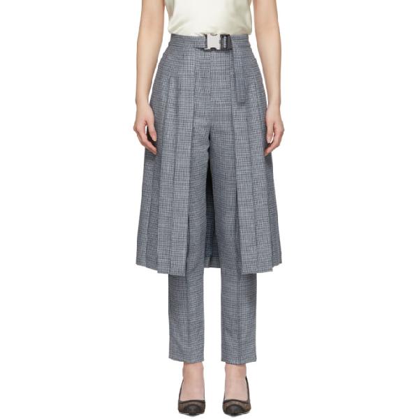 0197f62deb Fendi - Pleated Skirt Panel Wool Blend Tweed Trousers - Womens - Blue Multi  In F14Pj