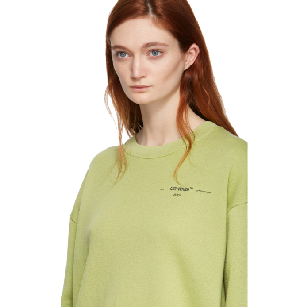 Off white Graphic Sleeve Sweater Green In Light Green