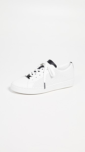 2d62c364f005 Michael Michael Kors Keaton Lace Up Sneakers In Optic White Black ...