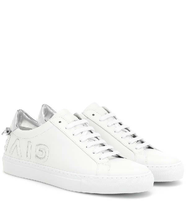 Givenchy Urban Street Reverse White And Silver Sneakers In