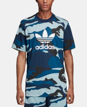 5c08139ac3ba Adidas Originals Men's Originals Camoflauge T-Shirt, Blue | ModeSens