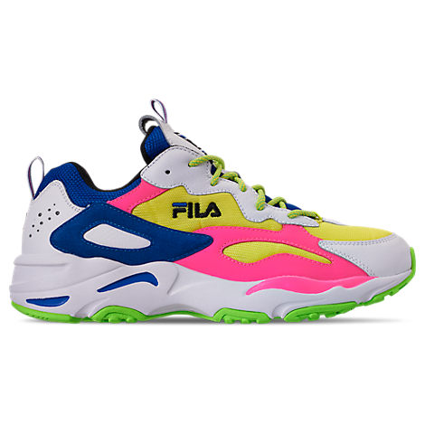5e5b26d49d Fila Men's Ray Tracer 90S Qs Casual Shoes, White In White/Lime/Green ...