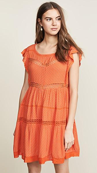 bcc664245da2 Free People Retro Kitty Dress In Tangerine | ModeSens