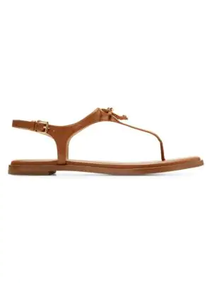535a8ecf168 Cole Haan Findra Leather Thong Sandals In British Tan