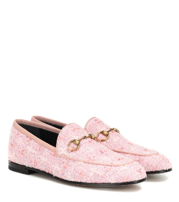e3a583e073 Jordaan Tweed Loafers in Pink