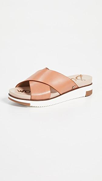 6bd71991e Sam Edelman Audrea Slide Sandals In Natural Buff