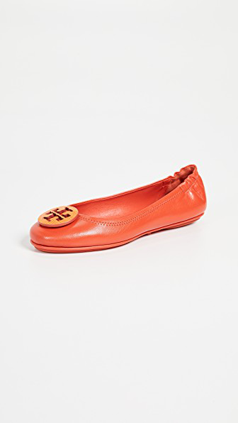 7f6661ab4 Tory Burch Minnie Travel Ballet Flats In Pomander Bright Pomander ...