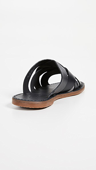 24768505e301 Madewell The Boardwalk Woven Slide Sandals In True Black