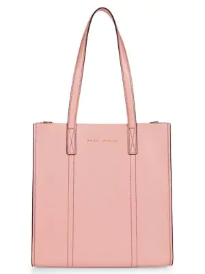 Repeat Leather Tote Bag In Rose