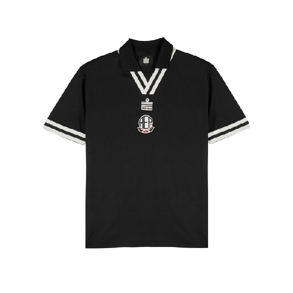 c2c29f3d Photo: Harvey Nichols. Represent Black Logo Embroidered Polo Shirt