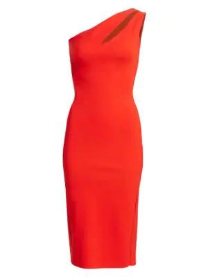 2e2e1291 Chiara Boni La Petite Robe One-Shoulder Bodycon Dress In Peperoncini ...
