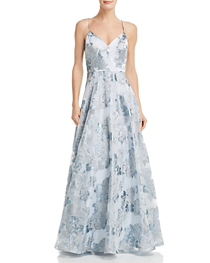 617fa4ef1 Eliza J Floral Jacquard Evening Dress In Sky Blue | ModeSens