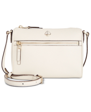 166304ec33e4 Kate Spade New York Polly Pebble Leather Crossbody In Parchment Gold ...
