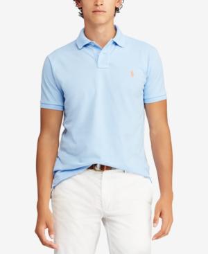 273530a61 Polo Ralph Lauren Custom Slim Fit Mesh Short Sleeve Polo Shirt In Baby Blue