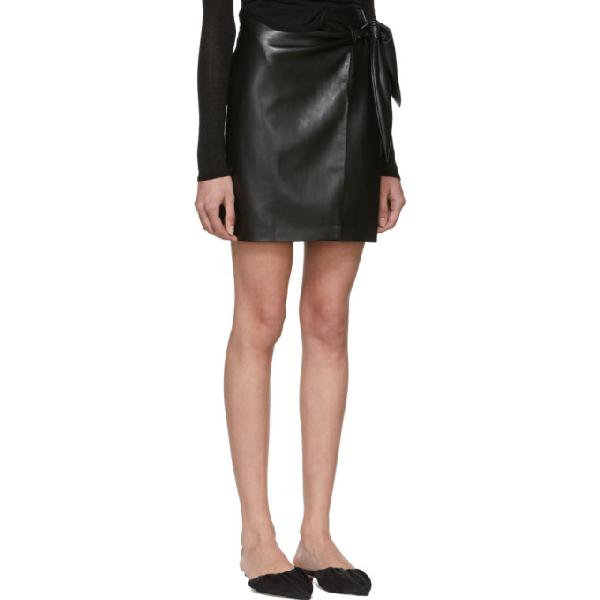 a5cb3cb0e351 Nanushka Iowa Vegan Leather Wrap Mini Skirt In Black | ModeSens