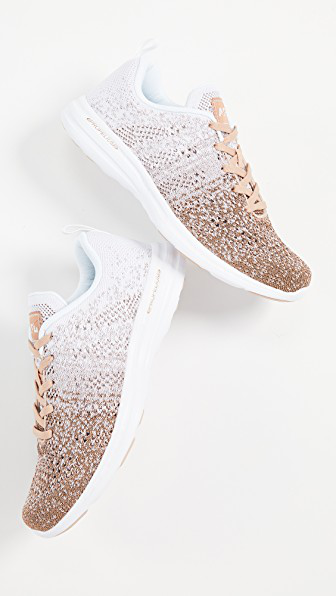 768d4224ae7e APL ATHLETIC PROPULSION LABS. Techloom Pro Sneakers in Rose Gold White Ombre