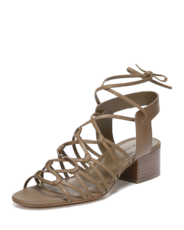 87503d9cef8 Vince Women's Beaumont Leather Lace Up Block Heel Sandals In Cottonwood