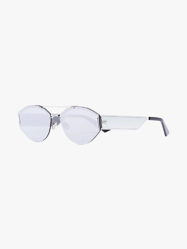 0ccab1f1625eac Dior Eyewear Silver Tone 0233S Metal Sunglasses In Metallic