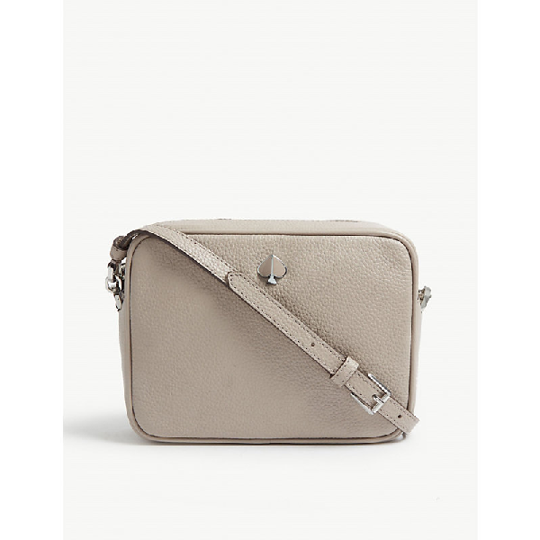 Kate Spade Polly Medium Leather Camera Cross Body Bag In Warm Taupe Modesens