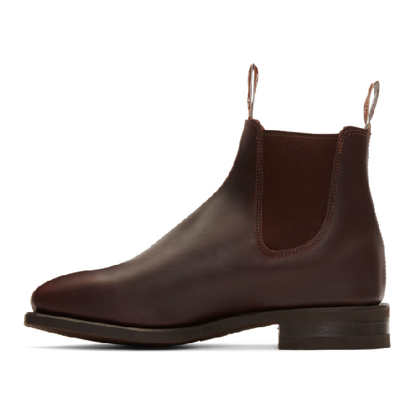 bbc6679ec0f R.M. Williams Burgundy Comfort Craftsman Chelsea Boots