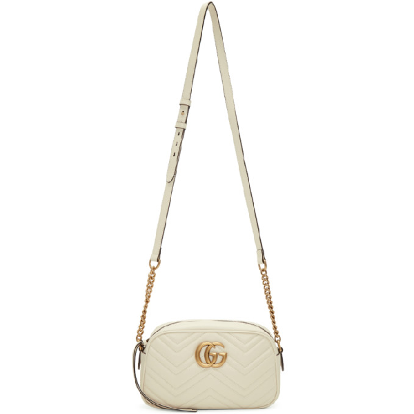 a9c38b8f5af322 Gucci Gg Marmont 2.0 Matelasse Leather Camera Bag - White In 9022 M Whit