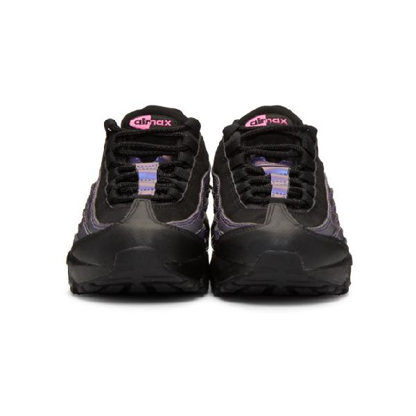42e9fcaf2e Nike Black And Purple Air Max 95 Prm Sneakers In 021 Blk/Fuc   ModeSens