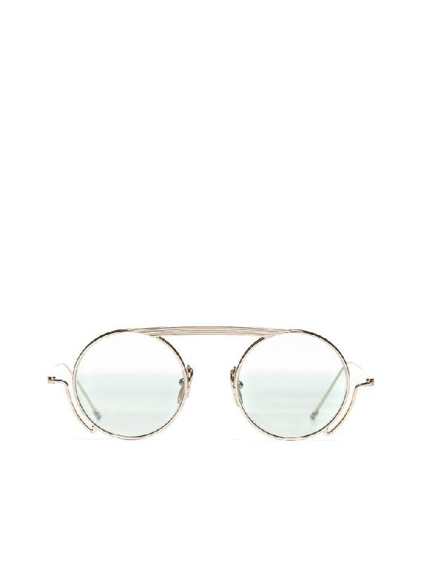 fc89d2e5a2b44 Thom Browne Eyewear Round Shaped Sunglasses In Multi. CETTIRE