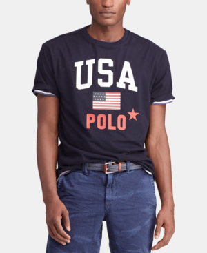 a5d708800c Men's Classic-Fit Graphic Americana T-Shirt in Aviator Navy