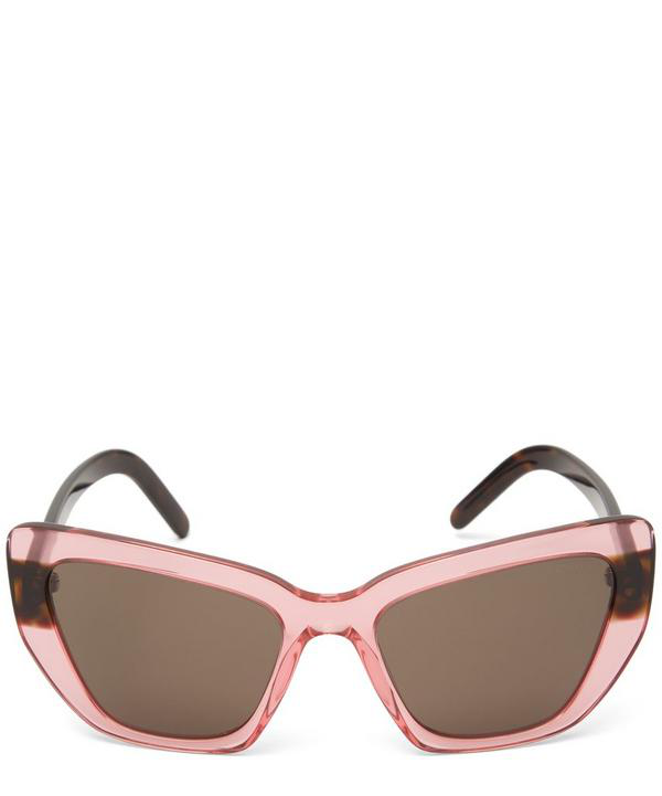 b09178e7bca Prada Oversized Geometric Two-Tone Sunglasses In Pink