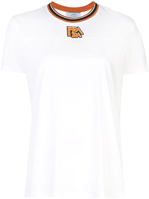 bde2432ad6313 Prada Logo Print T-Shirt - White