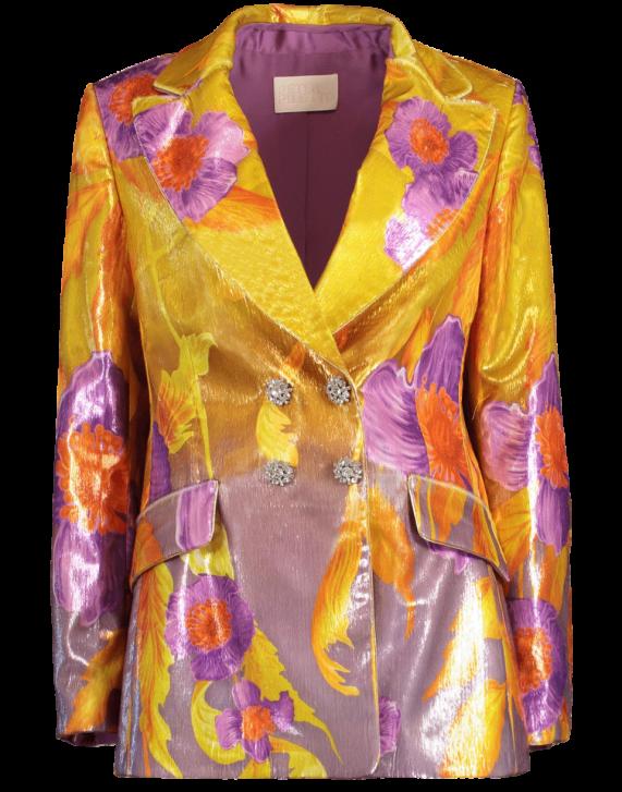 Peter Pilotto Printed Velvet Jacket In Poppy   ModeSens