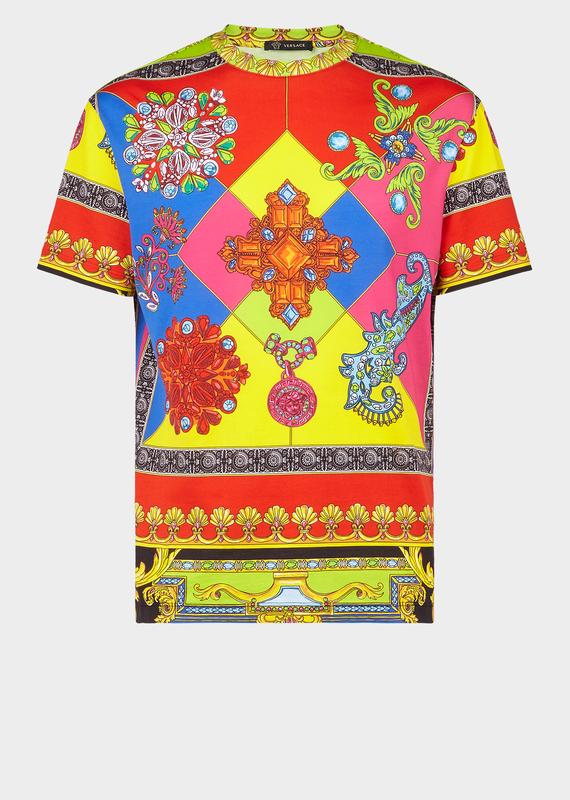 e5eab39d Versace Gioelleria Print Slim Fit T-Shirt | ModeSens