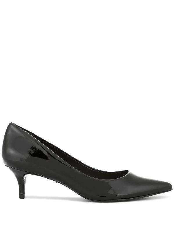 ab40c34ea2a Schutz Patent Pointed Kitten Heel Pumps - Black