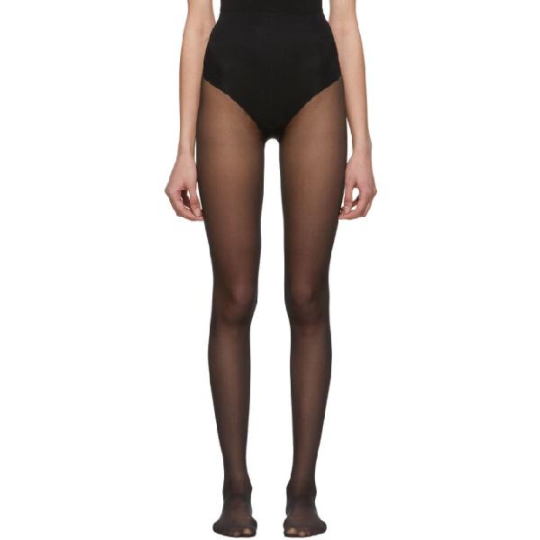 518b4ca0d1c51 Gucci Black Plain Logo Tights In 1000 Black | ModeSens