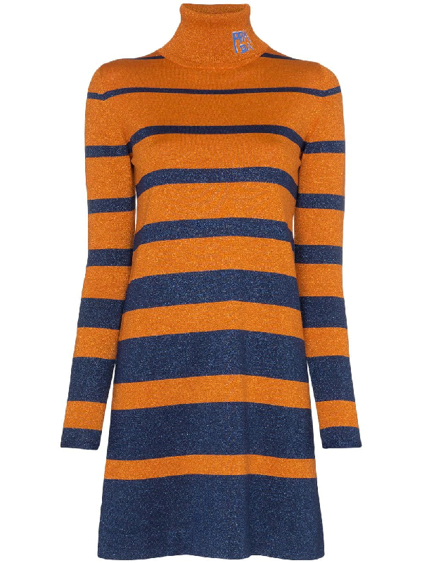 fce6a91dfe39c Prada Metallic-Kleid Mit Logo - Orange