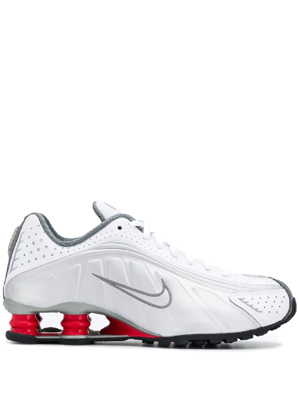 85e128c16f7d Nike Shox R4 Sneakers In White