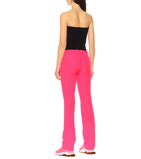 VERSACE HIGH-RISE STRAIGHT PANTS,P00379969