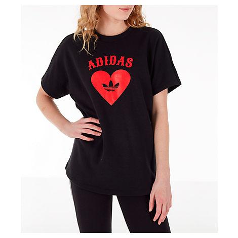 luz de sol Ensangrentado Pinchazo  Adidas Originals Adidas Women's Originals V-day T-shirt In Black | ModeSens