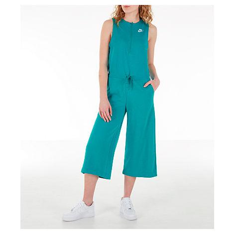 e769c1c0f Nike Women's Sportswear Club Jumpsuit, Blue | ModeSens