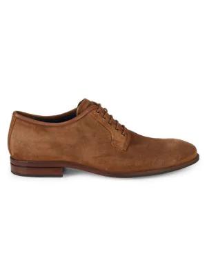 7129c8573b Cole Haan Warner Grand Postman Suede Derby Shoes In Bourbon | ModeSens