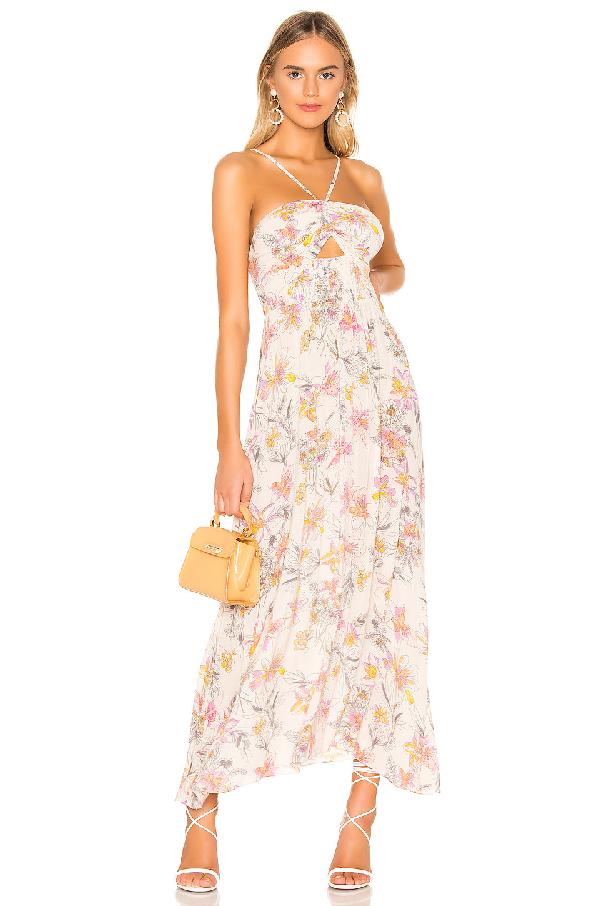 79fad25f6cb5 Free People One Step Ahead Floral-Print Midi Dress In Ivory | ModeSens