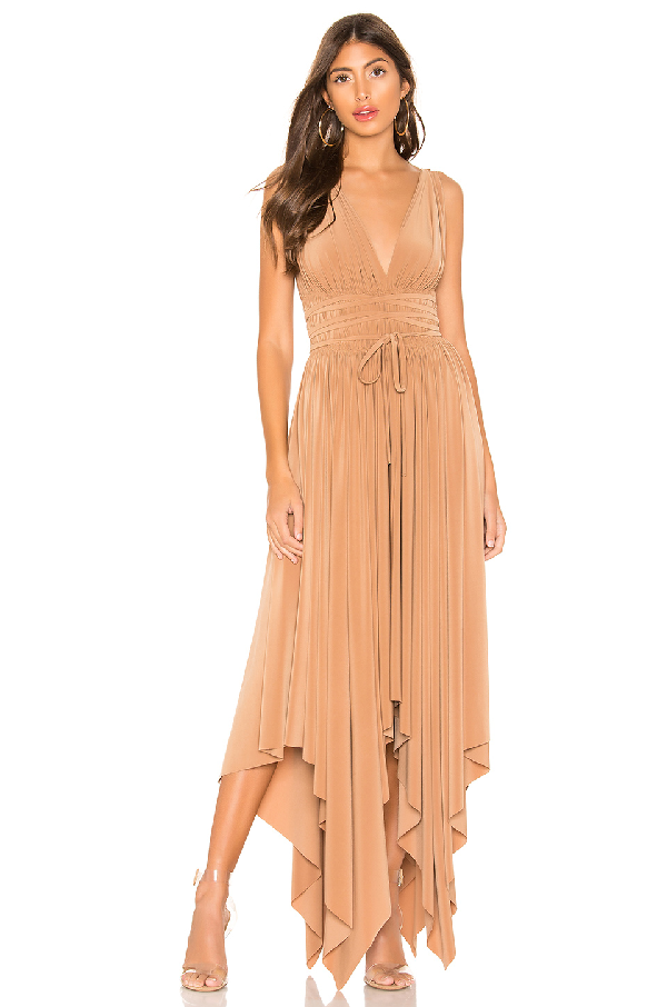 1329b936c3782 Norma Kamali Goddess Ruched Stretch-Jersey Midi Dress In Antique Rose