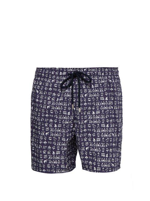 a4a0b9ea41 Vilebrequin - Moorea Turtle Print Swim Shorts - Mens - Navy White ...