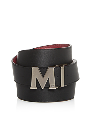 Reversible Leather Belt Silver