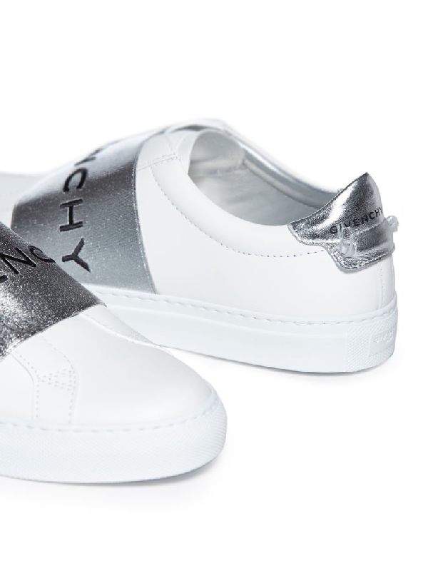 Givenchy Urban Street White And Silver Sneakers In 040 Silver